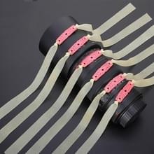 10 PCS Long Pull Model Prey Flat Rubber Band Speciale Saspi Katapult accessoires  kleur: dikte 0 65mm Effen kleur