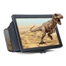 5 PCS 3D Vergrootglas F2 Telescopische Vergrootglas Mobiele Telefoon Scherm High-definition Vergrootglas Universele Mobiele Telefoon Houder (Zwart)