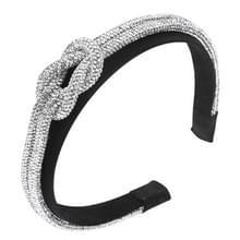 Spring and Summer Womens hoofdband met kleur Strassk geknoopte catwalk breed-brimmed hoofdband (Wit)