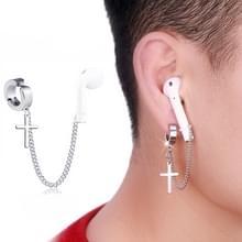 10 PCS A00114 Wireless Bluetooth Headset Anti-lost Titanium Steel Non-fading Oorbellen  Style:Ear Clip Cross