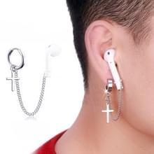 10 PCS A00114 Wireless Bluetooth Headset Anti-lost Titanium Steel Niet-vervagende oorbellen  Stijl: Ear Ring Cross