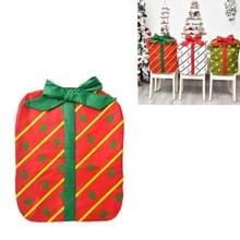 Kerstversiering Bownot Gift Bag Stoel Cover Christmas Day Restaurant Home Cartoon Stoel Terug Cover (Rood bedrukte boom boog)