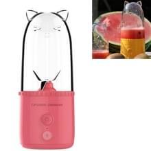 Cute Pet Juicer Cup Mini Portable Electric Stiring Juice Cup USB oplaadbare afneembare juicer (Roze)