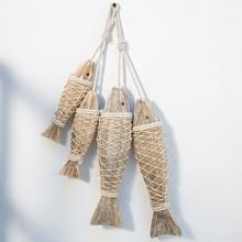 Mediterrane Creatieve Vintage Oude Muur opknoping ornamenten houten met de hand gesneden antieke vis spiesjes  grootte: Groot
