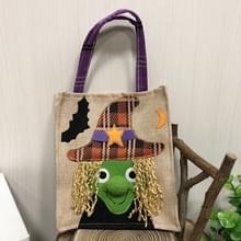 3 PCS Halloween Decoratie Benodigdheden Tote Bag Mall Hotel Koekjes Apple Gift Bag (Witch)