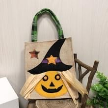 3 PCS Halloween Decoration Supplies Tote Bag Mall Hotel Biscuits Apple Gift Bag (Pumpkin)