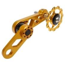 Litepro Folding Bike Guide Wheel LP Oval Chainring Chain Zipper Rear Derailleur Chain(Goud)