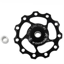 4 PCS MEROCA Metalen lagers Mountainbike Racefiets achter derailleur geleidewiel 11T/13T Geleidewiel  Specificatie:11T  Kleur: Zwart