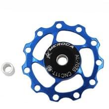 4 PCS MEROCA Metalen lagers Mountainbike Racefiets achter derailleur geleidewiel 11T/13T Geleidewiel  Specificatie:11T  Kleur:Blauw