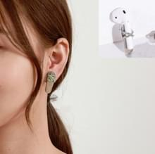 2 PCS Anti-lost Earrings Fashion Titanium Steel Color-preserving Earrings For AirPods & Wireless Earphones Universal(Steel Kralen)