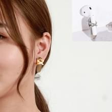 2 PCS Anti-lost Earrings Fashion Titanium Steel Color-preserving Earrings For AirPods & Wireless Earphones Universal(Orange Crystal) 2 PCS Anti-lost Earrings Fashion Titanium Steel Color-preserving Earrings For AirPods & Wireless Earphones Universal(Orang