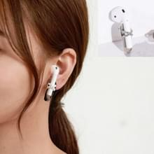 2 PCS Anti-lost Earrings Fashion Titanium Steel Color-preserving Earrings For AirPods & Wireless Earphones Universal(Pearl)