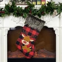 Kerst ornament kerstkous Cover Kerst hanger Kous Gift Bag (Elk)