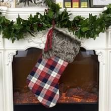 Kerstboom Hanger Kerstornamenten Kerstsokken Gingham Gift Bag (Donker)