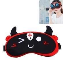 YJ-528 Eye Massager Arcering Hot Compress Slaap Oogmasker draadloze verwarming oogbeschermer verlichten vermoeidheid van de ogen (Zwart)