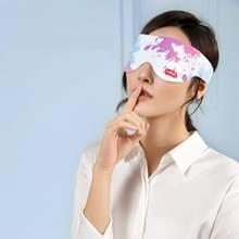 Elektrische verwarming Eye Protection Device te verlichten Oogvermoeiding Massage Apparaat Arcering Slaap Hot Compress Eye Mask  Style: Magnetic Mouth (Splash Inkt)