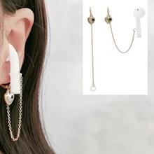 4 paren voor AirPods Bluetooth Headset Anti-verloren oorketen Perzik Hart oorpijn