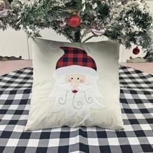 Kerstversiering kussen kussen cover kerstbank knuffelen kussensloop (ouderen)