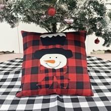 Kerstversiering kussen kussen cover kerstbank knuffelen kussensloop (Sneeuwpop)