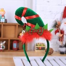 2 PCS kerstversiering Partij Rode Veer Decoratie Elf Hoofdband Kerst Little Pointed Hat Hoofdband (D816 Elf)
