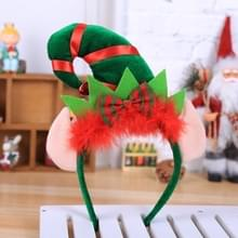 2 PCS kerstversiering Partij Rode Veer Decoratie Elf Hoofdband Kerst Little Pointed Hat Hoofdband (D815 Elf met oren)