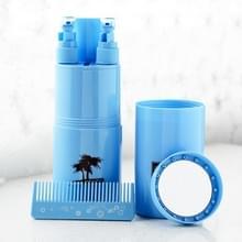 Travel Wash Cup Set Portable Mouthwash Cup Botteling Set (5-delige Set Blue)