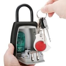 Password Key Box Four-digit Password Lock Padlock Type Free Installation Key Lock Box