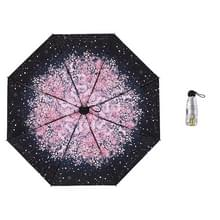 Anti-ultraviolet Sunshade Sun Umbrella Compact en Portable Titanium Silver Plastic Sun Umbrella (Flower Sea Cherry Blossom)