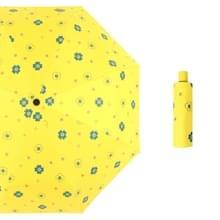 Student Vinyl Zonnebrandcrème Kleine Verse Paraplu Vouwen Automatische Paraplu  Stijl: Tri-fold (Geel )
