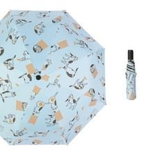 Kleine verse zon en regen dual-use folding sunshade UV-bescherming zonnebrandcrème paraplu (lichtblauw)