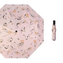 Kleine verse zon en regen dual-use folding sunshade UV-bescherming zonnebrandcrème paraplu (lichtpoeder)