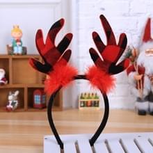 2 PCS Kinderen Kerst Rood Gewei Hoofdband Holiday Performance Haaraccessoires (D821 Gewei B460a)