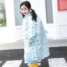 Cartoon Children Regenjassen waterdichte regenjas met schooltas  grootte: XL (Blauw)