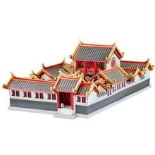 3D Metal Assembly Model Oude Stijl Gebouw Binnenplaats House Puzzel Speelgoed