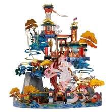 3D Metal Assembly Model Oude Building Fairy Fox House Creatieve DIY Puzzel