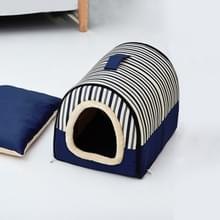 Dog Kennel Verwijderbaar & Wasbaar Pet Bed Herfst Winter Pet Supplies  Specificatie: S(Blue Stripes)