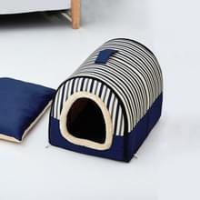 Dog Kennel Verwijderbaar & Wasbaar Pet Bed Herfst Winter Pet Supplies  Specificatie: M(Blue Stripes)