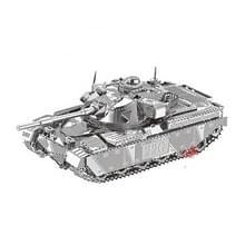 2 PCS 3D Metal Geassembleerd Tank Model DIY Puzzel  Stijl: Chief Tank