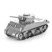 2 PCS 3D Metal Geassembleerd Tank Model DIY Puzzel  Stijl: Sherman Tank
