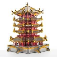 3D Metal Assembly Model Tower van Gele Kraan Puzzel Speelgoed