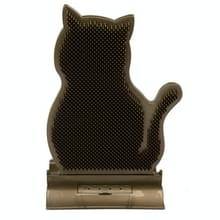 Fixed Door Seam Cat Rubbing Device Anti-jeuk & Hair Removal Massage Brush Pet Supplies(Brown)