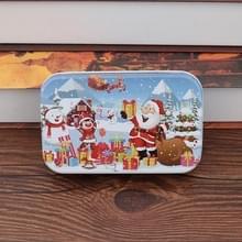 4 PCS Kerst Houten DIY Gift Kinderen Handgemaakte Santa Claus Puzzel Speelgoed (Sneeuw)
