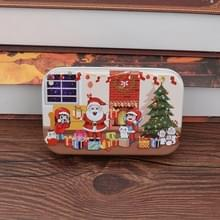 4 PCS Kerst Houten DIY Gift Kinderen Handgemaakte Santa Claus Puzzel Speelgoed (Open haard)