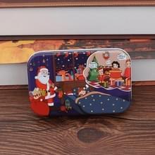 4 PCS Kerst Houten DIY Gift Kinderen Handgemaakte Santa Claus Puzzel Speelgoed (Bedzijde)