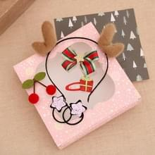 2 Sets Christmas Head Buckle Headband Gift Box Christmas Gift Set Kinderen Gift (Brown Geweien)