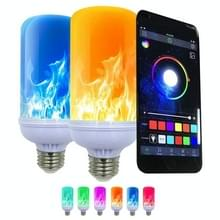 E27 Kleurrijke gloeilamp simulatie vlam licht LED App Control Een-op-veel lichten