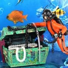 Pneumatische Aquarium Decoratie Diver Treasure Hunt Frogman Aquarium Aquarium Aquarium Landschap (Oranje)