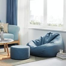 Lazy Sofa Bean Bag Stoel Stof Cover  Grootte: 70x80cm (Blauw)