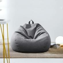Lazy Sofa Bean Bag Stoel Stof Cover  Grootte: 80x90cm (Donkergrijs)