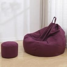 Lazy Sofa Bean Bag Stoel Stof Cover  Grootte: 80x90cm (Paars)